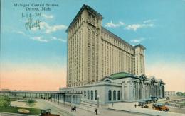 US DETROIT / Michigan Central Station / CARTE COULEUR GLACEE - Detroit