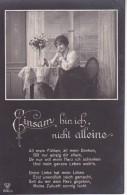 AK Einsam Bin Ich, Nicht Alleine - Frau Mit Bild - Ca. 1910 (23403) - Femmes