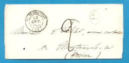 Yonne - St Florentin Pour Montigny Le Roi - CàD Type 14 - Marcophilie (Lettres)