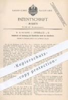 Original Patent - W. Kuhlmann , Offenbach , Main  1895 , Schaltwerk Mit Aushebung Der Schaltklinke Durch Den Schalthebel - Historische Dokumente