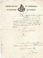 CERTIFICAT DE BAPTEME  EGLISE ROYALE ET PAROISSIALE  De Notre-Dame Des Victoires  PARIS OCTOBRE 1829 - Documenti Storici
