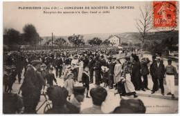 Plombières Les Dijon : Concours De Sociétés De Pompiers, Réception Des Autorités à La Gare Canal Et Défilé (Edit. Pagnon - Other Municipalities