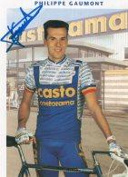 4026 CP Cyclisme Philippe Gaumont Dédicacée - Cycling