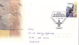 17C : Australia 18th Australian Jamboree Scout Pictorial Cancel, Dinosaur Stamp1 Used Cover - 2010-... Elizabeth II