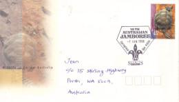 17C : Australia 18th Australian Jamboree Scout Pictorial Cancel, Dinosaur, Prehistoric Toitoise,turtle Stamp1 Used Cover - 2010-... Elizabeth II