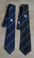 Stropdas Tie Cravate 2x BSBV Football Sports (black And Dark Blue) - Dassen