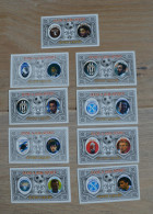 9 Cards Football Calcio Juventus Lazio Napoli Roma Milan Torino Sampdoria - Trading Cards