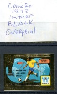 Soccer WC 1978 Comoro Black Overp. Imperf Gold MNH***XVF Football Non Dentele - World Cup