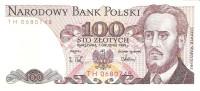 Poland - Pick 143  - 100 Zlotych 1988 - Unc - Polonia
