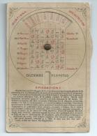 CALENDARIO PERPETUO  CON INGEGNOSO METODO DI ROTAZIONE -  INIZI '900 - Astronomia