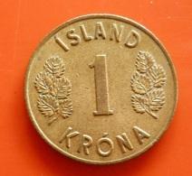 Iceland 1 Krona 1965 - Island