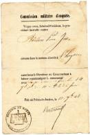 COMMISSION MILITAIRE D'ENQUETE  Procédure   JUILLET 1848 - Documenti