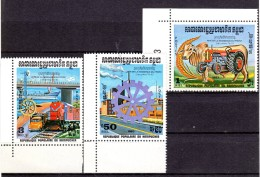 CAMBODIA 1983 SC# 454-456 MNH - FESTIVAL REBIRTH - Cambodia