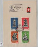 1940 Schweizer Mustermesse Basel 1940 PTT Bögli PP Satz Mit B5c Hellrot - Lettres & Documents