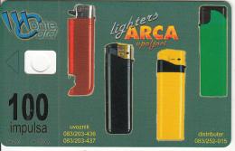 MONTENEGRO - Arca Lighters, SUN Ice Cream, Tirage 50000, 06/01, Dummy Telecard(no Chip, No CN)