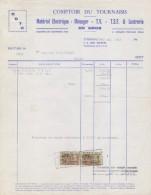 BELGIË/BELGIQUE:1963:Facture De## COMPTOIR Du TOURNAISIS, Tournai ## à ## Mr. Philippart, Vaulx ## Avec Timbres Fiscaux. - Electricity & Gas