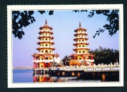 TAIWAN  -  Tsoying Lunghu Pagodas  Unused Postcard - Taiwan