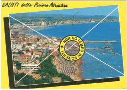 ITALIA - ITALY - ITALIE - 1990 - Saluti Dalla Riviera Adriatica - Non Ho Tempo Di Scriverti - Serie Castelli - 550 Ca... - Rimini
