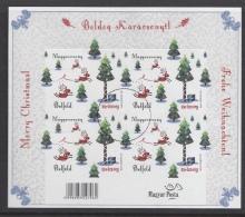 HUNGARY - 2015. SPECIMEN Minisheet -  Christmas / Self Adhesive / With Inscription Belföld - Proeven & Herdrukken