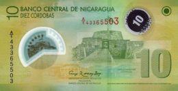 """NICARAGUA 10 CORDOBAS 2007 (2012) P-201 UNC WHITE """"20"""" IN WINDOW [NI497b] - Nicaragua"""