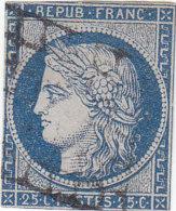 France: Timbre Cérés 25c Bleu N°4 Recto/verso - (n°2) - 1849-1850 Cérès