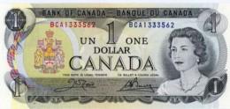 CANADA 1 DOLLAR 1973 P-85c UNC SIGN. CROW & BOUEY [CA348c] - Canada