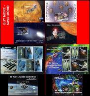 LIBERIA 2006//08     SPACE & ASTRONOMY 2 M/S + 6 S/S  CV$58.00 MNH ** POSTFRISCH Neuf - Espace