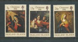 Falkland Islands 1981 Christmas Paintings Set 3 MNH - Falkland Islands