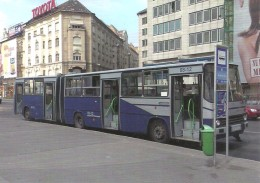 BUS * AUTOBUS * IKARUS 280 * BKV * BUDAPEST * TOYOTA CAR * TESCO * GROCERY * DEPARTMENT STORE * Reg Volt 0191 * Hungary - Bus & Autocars
