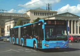 BUS * AUTOBUS * MERCEDES CITARO G * BKV * MUSEUM FINE ARTS * HOSOK SQUARE * BUDAPEST * Reg Volt 0192 * Hungary - Bus & Autocars