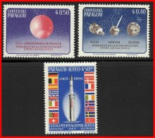 PARAGUAY 1964 SPACE PROGRAM / EUROPA MNH FLAGS A20 Neuf ** Postfriesh - Espace