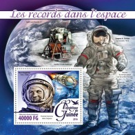 GUINEA REP. 2016 ** Records In Space Raumfahrt S/S - OFFICIAL ISSUE - A1623 - Space