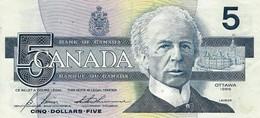 CANADA 5 DOLLARS 1986 (1994) P-95c XF SIGN. BONIN & THIESSEN [CA358c1] - Canada