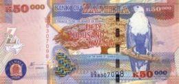 ZAMBIA 50000 KWACHA 2003 P48a UNC RARE ! [ZM150a] - Zambie