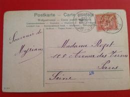 Cad Salonique Turquie Pour Paris Sur  Timbre Du Levant (cpa Musiciennes) - 1858-1921 Empire Ottoman