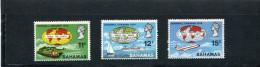 BAHAMAS  1970 Y&T 293-295** Trains Avions Bateaux - Bahamas (1973-...)