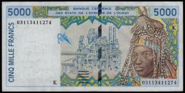 Senegal 5000 Francs 2002-2003 XF- - Sénégal
