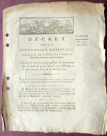 83 TOULON MARINE  DECRET POUR ACCELERER LA CONSTRUCTION DE BATEAUX A PORT LA MONTAGNE 1794 - Documents Historiques
