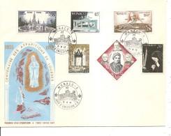 Christianisme -Apparitions De Lourdes ( 2 FDC De Monaco De 1958 à Voir) - Cristianesimo