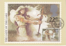Great Britain 1985 Christmas / The Lady Of The Lake 1v Maxicard (30396) - Maximumkaarten