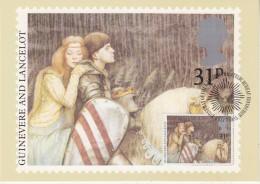 Great Britain 1985 Christmas / Guinevere And Lancelot 1v Maxicard (30397) - Maximumkaarten