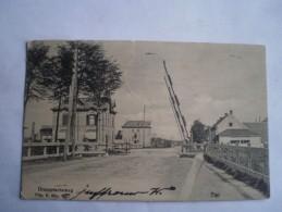 Tiel (gld.) Overweg Drumptscheweg (iets Kleiner Dan Standaard -denk Orgineel) Gelopen 1906 Uitg.D.Mijs SCHEURTJE Ca 1cm - Tiel