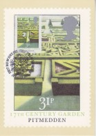 Great Britain 1983 British Gardens / Pitmedden 1v Maxicard (30399) - Maximumkaarten