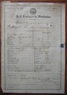 1860 Bulletin Du Petit Séminaire De Montauban Adressé à Madame Surrel De Montchamp à Saint Nicolas De La Grave - Diplômes & Bulletins Scolaires