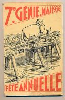 AVIGNON - LIVRE SUR LA FETE ANNUELLE DU 7 Eme GENIE MAI 1936  (COMPLET) (DIM 24 X 16) - Livres, BD, Revues