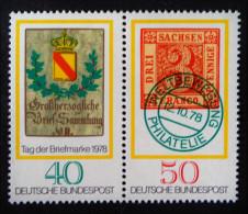 JOURNEE DU TIMBRE 1978 - PAIRE NEUVE ** - YT 827/28 - MI 980/81 - Neufs