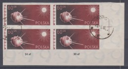 POLOGNE - 993 Obli Non Dentelé (bloc De 4) - 1944-.... Republik