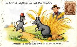 [DC2958] CPA - HUMOR - IL TOPO DI CITTA' E IL TOPO DI CAMPAGNA - Non Viaggiata 1946 - Old Postcard - Humor