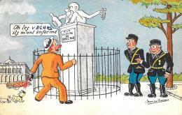 [DC2959] CPA - HUMOR - JEAN DE PREISSAS - Illustration Gendarmes. Oh Les V... Ils M' Ont Enfe - Viaggiata - Old Postcard - Humor
