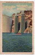 CPA.1937.Etats-Unis.Nevada.Boulder Dam.Upstream Face And INtake Tower.Barrage Hoover.en Amont. - Etats-Unis